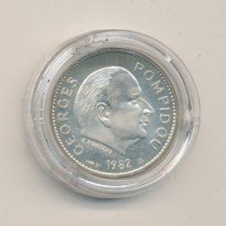 Médaille - Georges Pompidou - argent - 1982 - 21mm