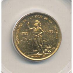 Médaille - Bicentenaire Prise de la bastille - bronze - 1983 - 21mm