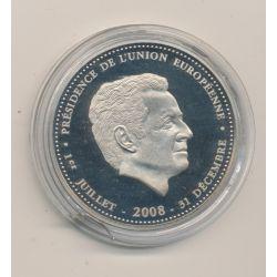 Médaille - Nicolas Sarkozy - résidence de l'union européenne - 2008