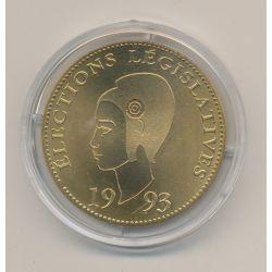 Médaille - Élections législatives - 1993 - Marianne - bronze - 41mm