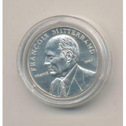 Médaille - François Mitterrand - argent - 1981 - 21mm - sans certificat