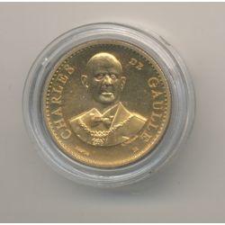 Médaille - Charles De gaulle - bronze - 1983 - 21mm - sans certificat