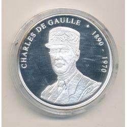 Médaille - Charles De Gaulle - 1890-1970 - argent - les présidents français