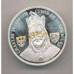 Ecu - Charles IV - Comte de Luxembourg - argent