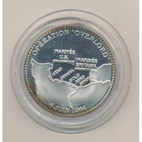 Médaille - 50e anniversaire débarquement - 1994 - opération overlord - argent