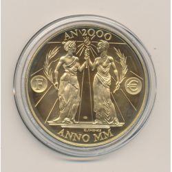Médaille - Citoyen AN 2000 - bronze - 41mm - N°9862