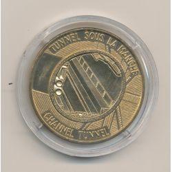 Médaille - Tunnel sous la manche - Première jonction - 1990 - bronze