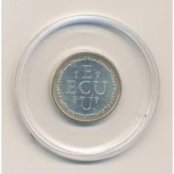 1/4 Ecu EUROPA - 1987 - argent