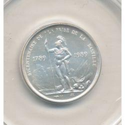 Médaille - Bicentenaire Prise de la bastille - argent - 1983 - 21mm - avec certificat