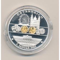 Médaille - Autriche - 1 janvier 2002 - 1ère émission de l'euro