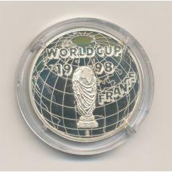 Médaille - Coupe du monde Football 1998 - nickel