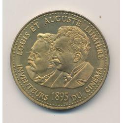 Médaille - Frères Lumières - 100 ans invention du cinéma - 1995 - bronze