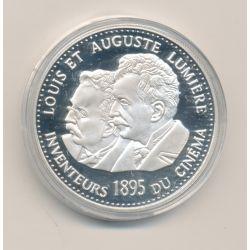 Médaille - Frères Lumières - 100 ans invention du cinéma - 1995 - argent