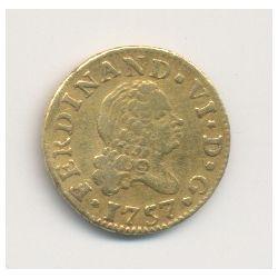Espagne - 1/2 Escudo 1757 Madrid - Ferdinand VI