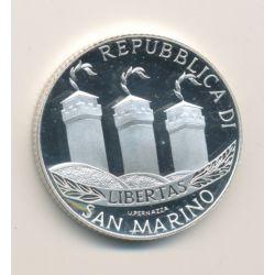 St Marin - 5 Euro  2002 - argent Belle épreuve