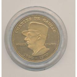 Médaille - Charles De gaulle - Cinquantenaire de la libération - 1994 -  bronze