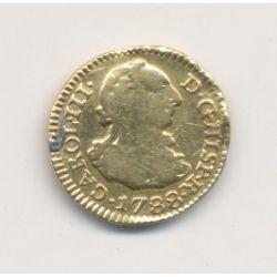 Espagne - 1/2 Escudo 1788 - Charles III