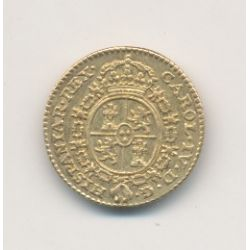 Espagne - 1/2 Escudo d'or 1789 Madrid - Acclamation Madrid