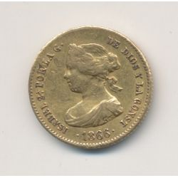 Espagne - 4 Escudos 1866 - Isabel II