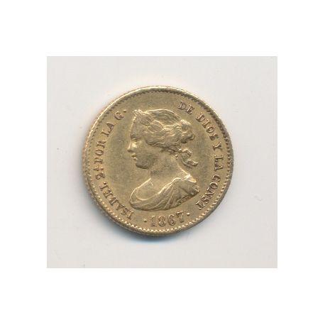 Espagne - 4 Escudos 1867 - Isabel II
