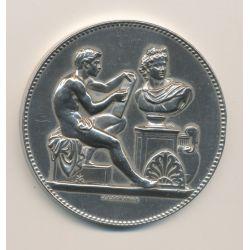Médaille - Ville de paris - Enseignement dessin - 1883 - bronze argenté