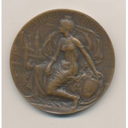 Médaille - Prix de la Ville de paris - Société des petits fabricants et inventeur Français - 1908 - bronze