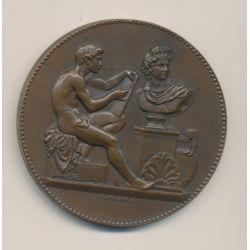 Médaille - Ville de paris - École de dessin - 2e année 2e prix - 1910 - bronze