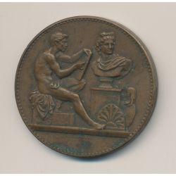 Médaille - Ville de paris - École de dessin - 2e année 2e accessit - 1910 - bronze