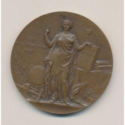 Médaille - Ville de paris - Cours d'adultes - 1907 - bronze