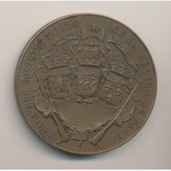 Médaille - Ville de paris - Société de tir - bronze