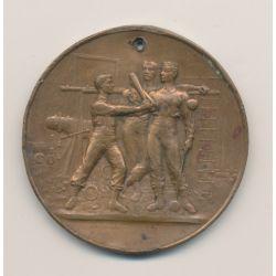 Médaille - 8e Fête régionale de gymnastique - 1893 - Les deux charentes - bronze