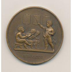 Médaille - Société pour l'instruction élémentaire - 1904 - bronze - F.Domard