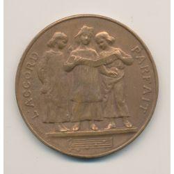Médaille - Concours de dictée - 1er prix - 1888 Paris - bronze - D.Dupuis