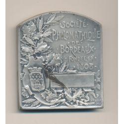 Médaille - Société Philomathique - 13e Exposition 1895 - Bordeaux - Diplôme d'honneur - bronze argenté