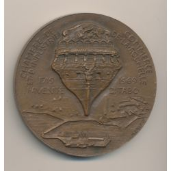 Médaille - Chambre de commerce - La Rochelle - 1719-1969 - Proue Navire - bronze - Dropsy