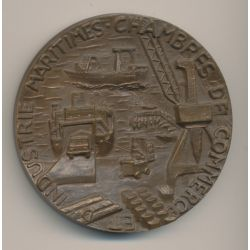 Médaille - Chambre de commerce - La Rochelle - Industries maritimes - Bronze