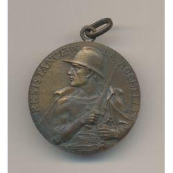 Médaille - Résistance de la Rochelle - 4e Siège - 1945 - bronze - 32mm - WWII