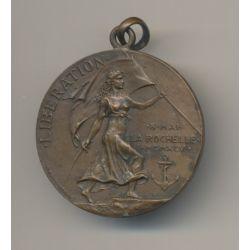Médaille - Libération de la Rochelle - 4e Siège - 1945 - bronze - 32mm - WWII