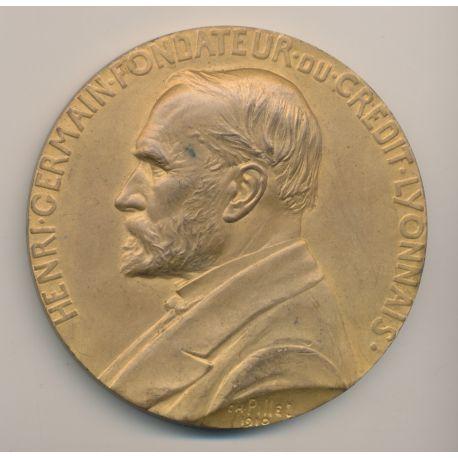 Médaille - Henri Germain - Fondateur du Crédit Lyonnais - 1910 - Bronze