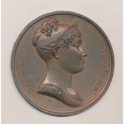 Cliché uniface - Marie Louise Impératrice - 1er Empire - étain bronzé - F.Andrieu