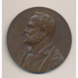 Médaille - Victor Hugo - uniface/repoussé - bronze - A.Borrel