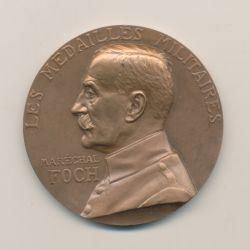 Médaille - Maréchal Foch - Les médailles militaires - bronze - 50mm