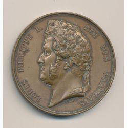 Médaille - Louis Philippe I - Roi des Français - cuivre - Barre - 51mm