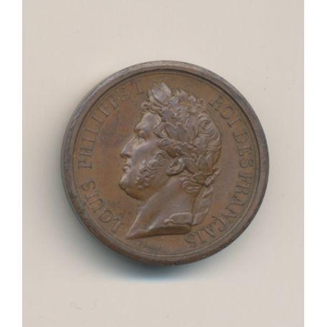 Médaille - Louis Philippe I - Duc d'Orléans - 1842 - Barre - bronze - 27mm