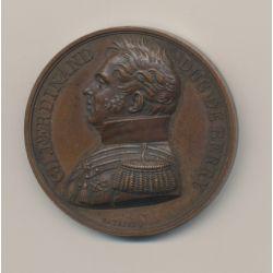 Médaille - Charles Ferdinand - Duc de Berry - 1820 - cuivre - 41mm
