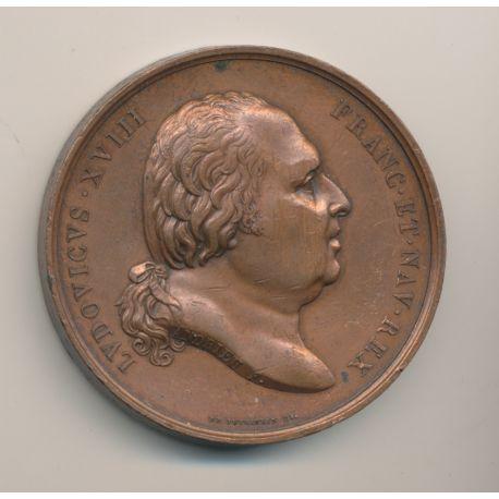 Médaille - Louis XVIII - Naissance de Henri duc de Bordeaux - 1820 - cuivre