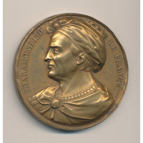 Médaille - Roi Pharamond - 1840 - Caqué - cuivre - 51mm