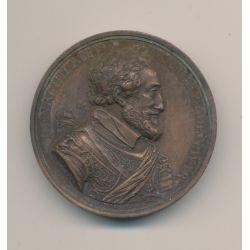 Médaille - Henri IV - 1814 - bronze - 41mm - De Puymaurin