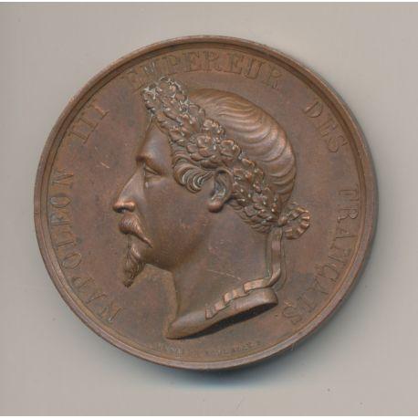 Médaille - Napoléon III - Prise de Sébastopol - 8 septembre 1855 - cuivre - 46mm
