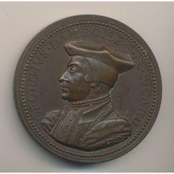 Médaille - Georges d'Amboise - 1503 - bronze - 54mm